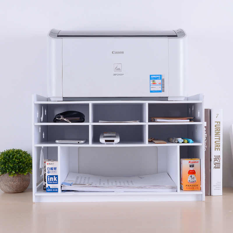 Wood-plastic board printer shelf desktop storage rack office file cabinet bookshelf home organization and storage mx12201810