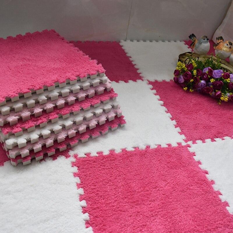 8Pcs 30x30cm DIY Magic Jigsaw Woonkamer Slaapkamer Kinderen Kids Soft Patchwork Tapijt Splice Antislip Puzzel Klimmen Carpet