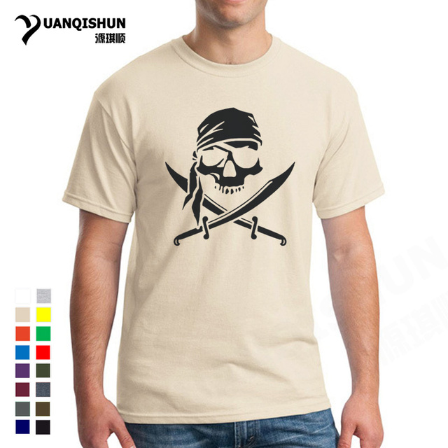 Men Brand TShirts Pirate Skull Personalized Custom T-shirt Men's Funny T  Shirt Short Sleeve Tee Shirts Male Tops