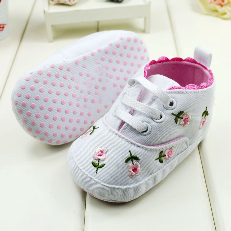 Fashion Baby Girl Spring Autumn Princess Shoes Flower Shoes Baby First Walkers Footwear Toddler Soft Sole Shoes