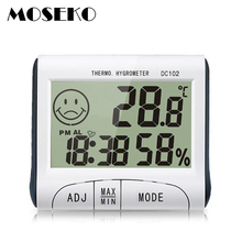 Mini Indoor LCD Digital Thermometer Hygrometer Alarm Clock Timer Electronic Temperature Humidity Meter