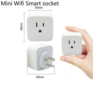 Image 2 - 2pcs pack WiFi Smart Socket US EU Plug WiFi Version Wireless Remote control Socket Adaptor Power on off with phone Alexa google
