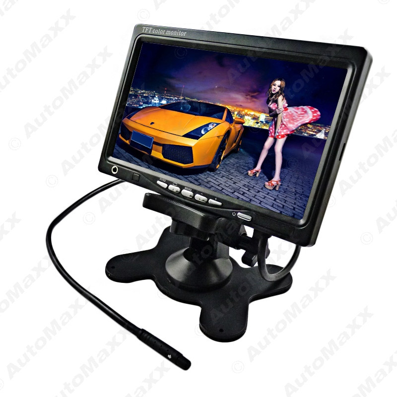 New DC24V 7 TFT LCD Rearview Headrest Monitor For Truck Bus Camera DVD VCR GPS J