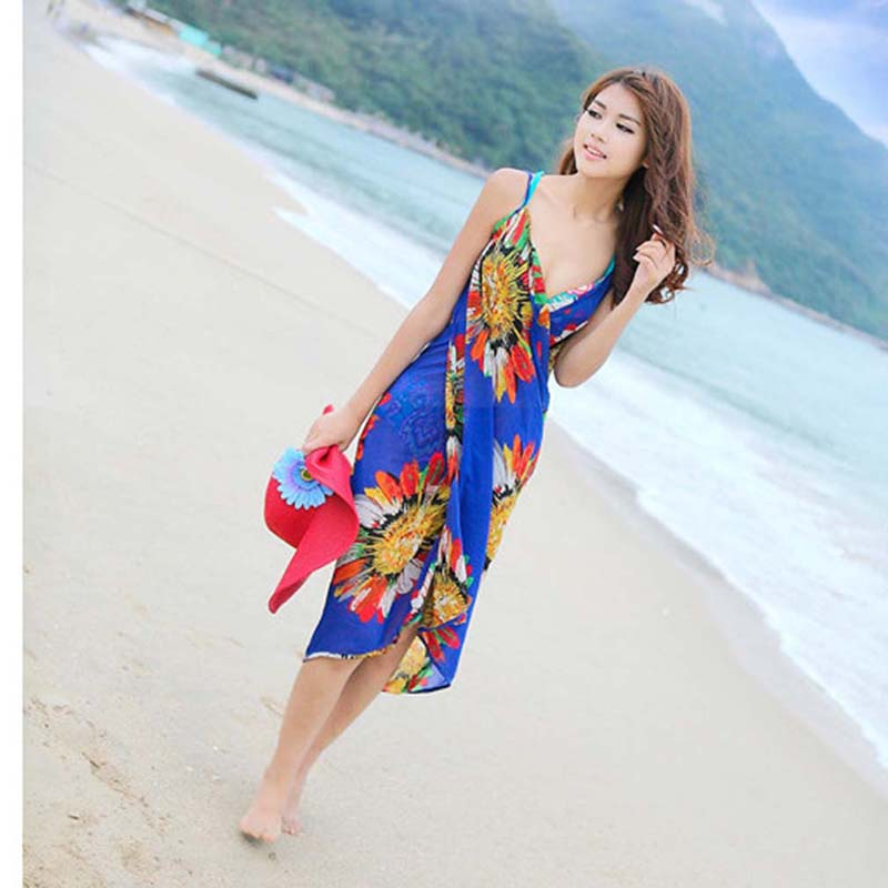 Bikini cover up floral backless