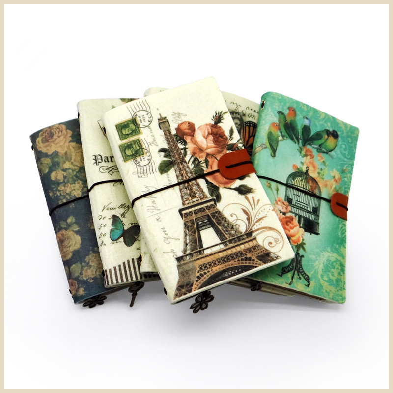 Creative Retro notebook,Diary memo pad,Travel Journal,Art style Calendar notebook,planner diary Office School Stationery Notepad