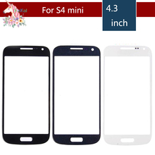 цена на 10pcs/lot High Quality For Samsung Galaxy S4 mini i9190 i9195 i9192  Front Outer Glass Lens Touch Screen Panel Replacement