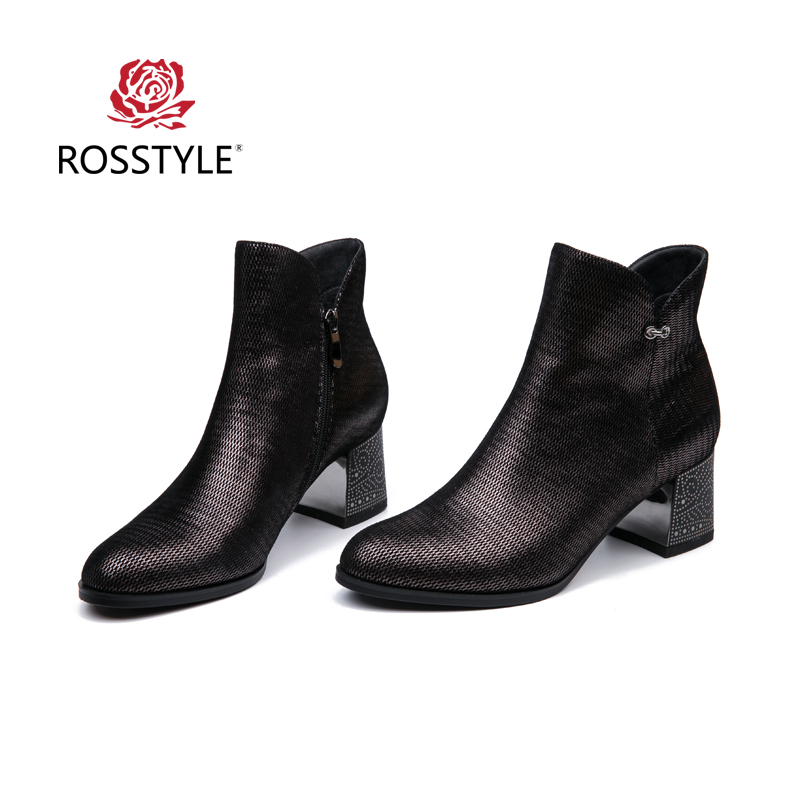 ROSSTYLE Real Leather-based Girls Boots Motion Leather-based Boots Winter Ankle Excessive Heel Girls Sneakers Excessive High quality Luxurious Plus SizeB5 Ankle Boots, Low cost Ankle Boots, ROSSTYLE Real Leather-based...