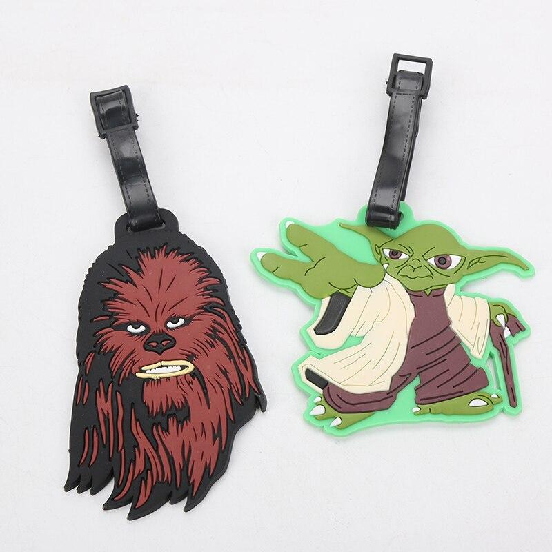 Star Wars Luggage Tags Chewbecca and Yoda