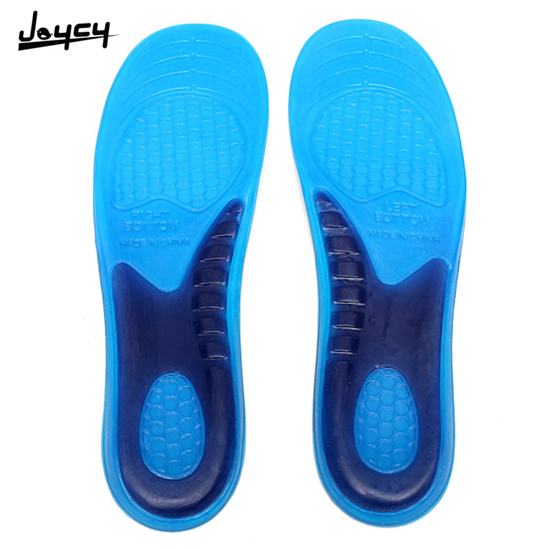 1 Pair size L Unisex Massage Gel Insoles Shock Insert Soft Cushion Orthotic Arch Support Boots Sports Running Shoe Pads
