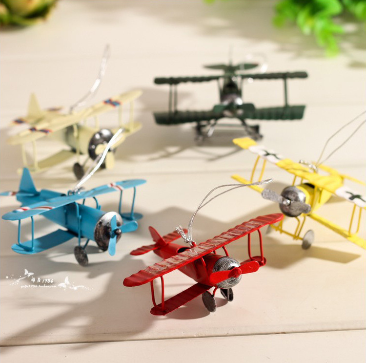 New Arrival Mini Metal Airplane Model Gift Toys Metal Crafts Home Decor Creative Collection