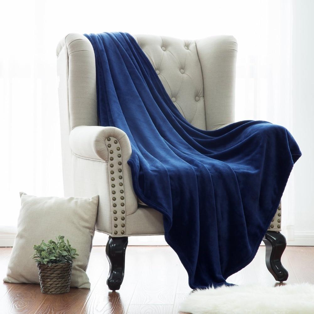 Flannel Blankets Coral Fleece Mink Throw Adult Queen Size
