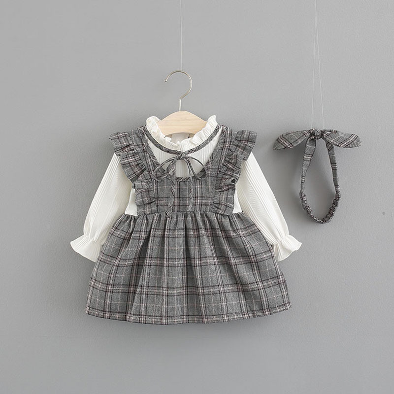2018 Limited Hot Sale Cute Vestido Infantil Baby Girl Dress Girls College Wind Dress 0-3 Years Old Baby Long Sleeve Autumn Tutu