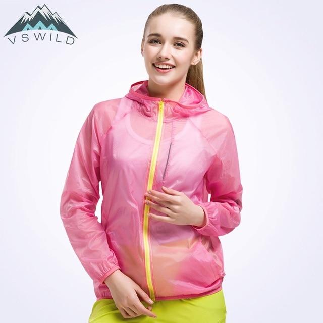 Women s Windbreaker Outdoor Sport Shirt Rain Jacket Waterproof Hunting  Summer Tops Camiseta Quick Dry Clothing Casaco Feminino 6fe9d2f4cb