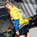 2016 winter Jacket Women Down jackets colorant match embroidery down coat personality slim design short outerwear Women's Parka
