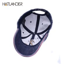 [HATLANDER]Brand washed soft cotton baseball cap hat for women men vintage dad hat 3d embroidery casual outdoor sports cap