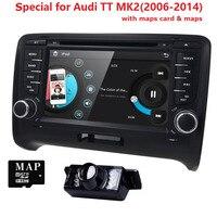 7 double din Autoradio 2 din For AUDI TT MK2 Multimedia Car Stereo Radio GPS Audio Video 2006 2014 CD TV RDS 3G BT SWC Cam MAP