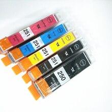 цена на Vilaxh PGI-250 CLI-251 ink cartridge For canon PIXMA MG5420 MG5422 MG5520 MG5522 MG6420 IP7220 MX722 MX922 IX6820 printer ink