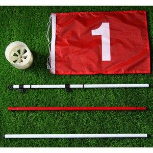 Клюшка для гольфа с отверстием для гольфа 3 секции для занятий на заднем дворе зеленый флаг для гольфа и флагшток для гольфа
