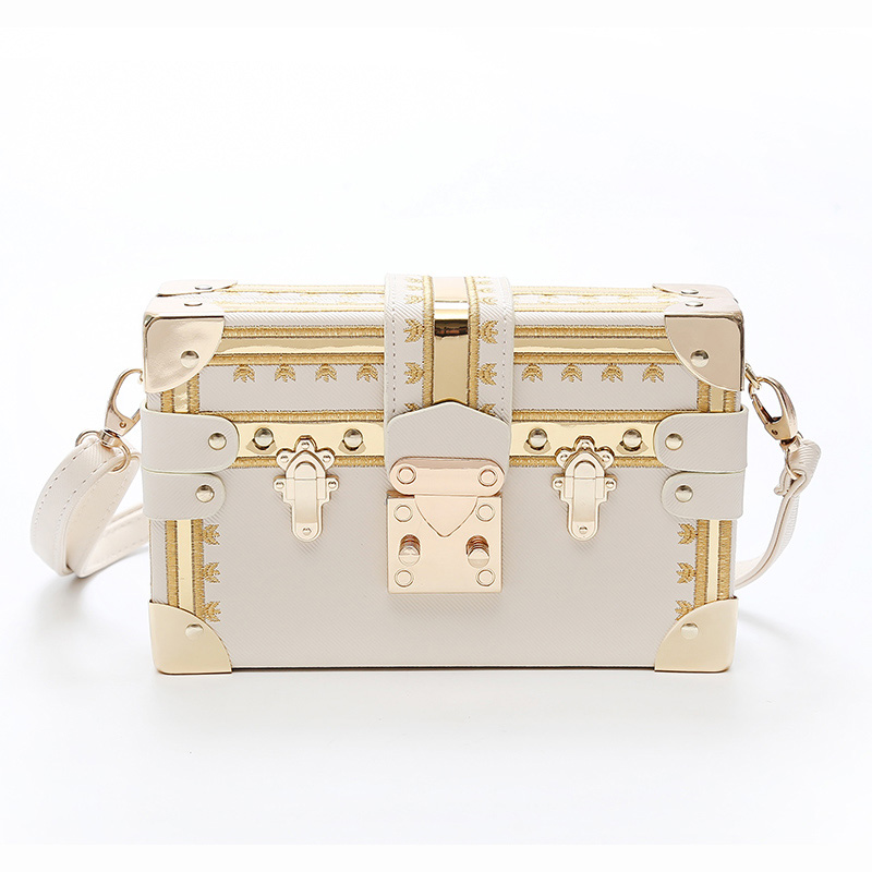 193e7a1caf01 US $18.8 60% OFF|Fashion Box Women Bag Rivets Fashion Women Messenger Bags  Small Square Girls Shoulder Bags 2018 New Female Shoulder Packages -in ...