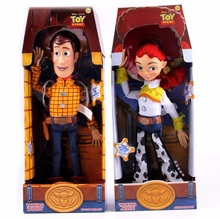 2020 New Toy Story 4 Talking Jessie Speaking Woody PVC Action Toy Figures Model Toys Children Birthday Gift Collectible Doll
