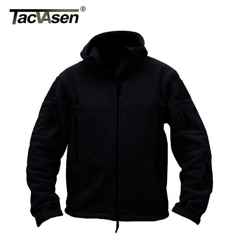 TACVASEN 3XL зимняя Военная флисовая куртка Теплая мужская тактическая куртка темно-синяя теплая куртка с капюшоном Пальто Верхняя одежда плюс размер