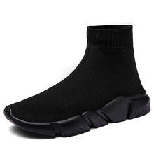 ZHJLUT Sneakers Women Men Knit Upper Breathable Sport Shoes Sock Boots