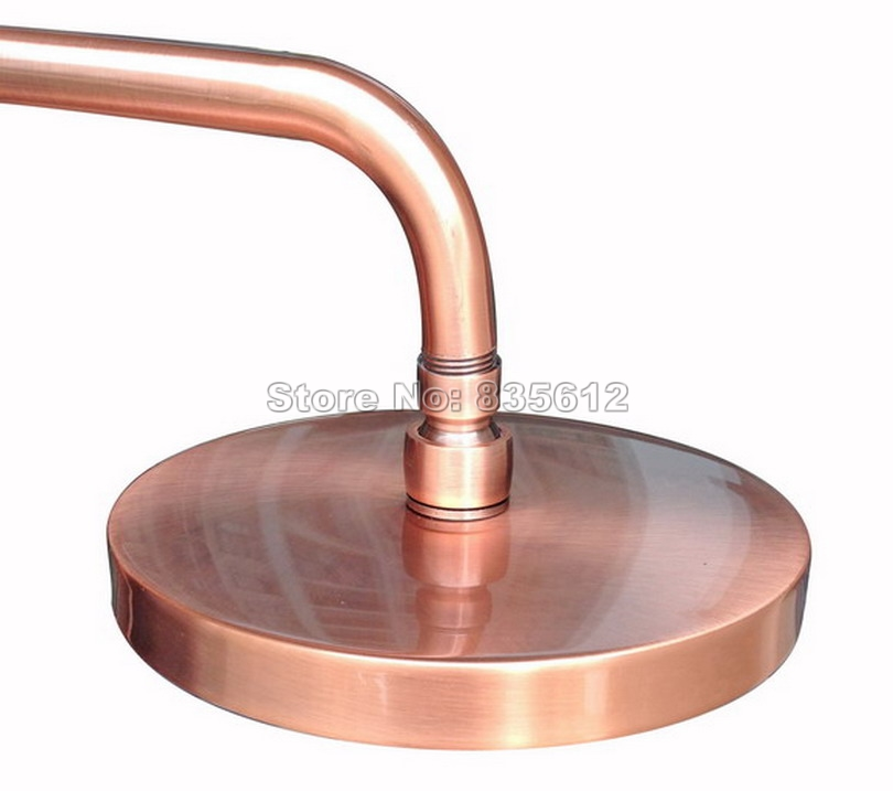 Antique Red Copper Round Shower Heads 7 7 inch Rainfall Shower Head Rain shower Head Wsh032