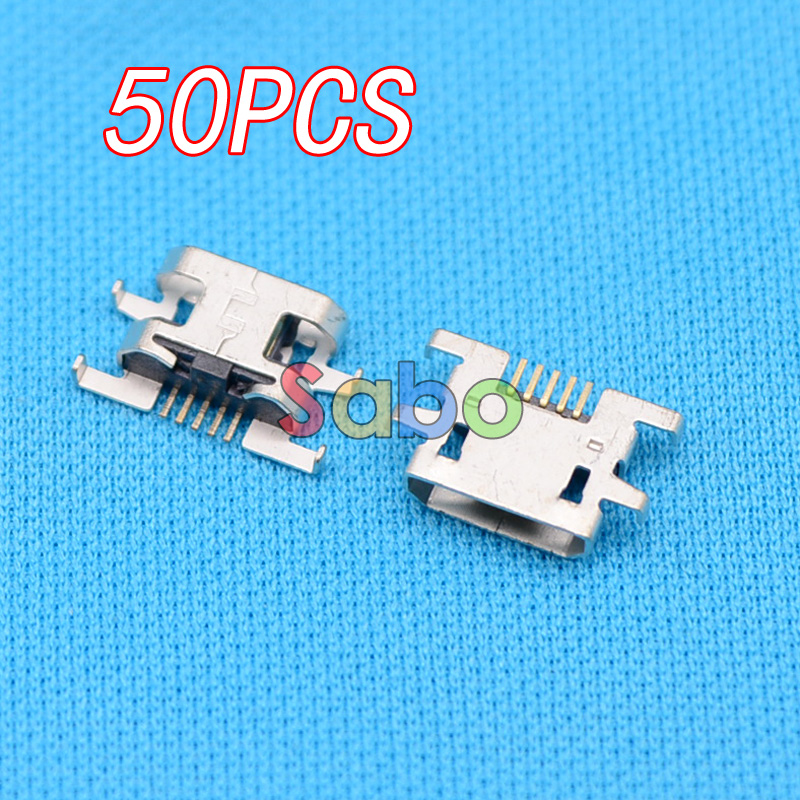 50pcs Micro USB Jack Connector Female 5 pin Charging Socket For Sony Xperia M C1904 C1905 C2004 C2005 sony xperia m c1905 white