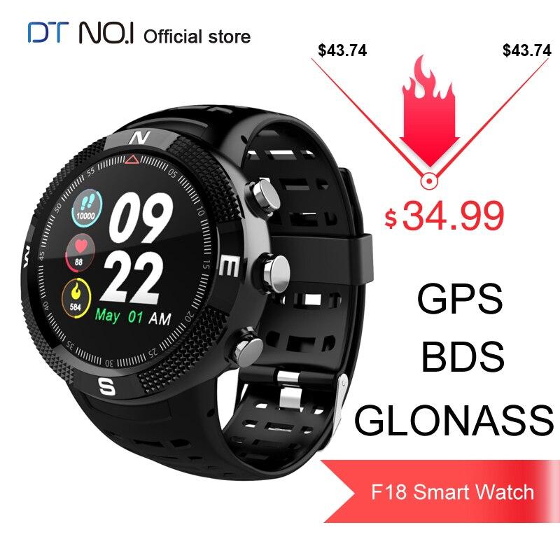 DTNO. I N° 1 F18 GPS BDS GLONASS 3 Satellites Du Système Mondial de Localisation de Fréquence Cardiaque bluetooth 4.2 Sport Montre Intelligente Smartwatch