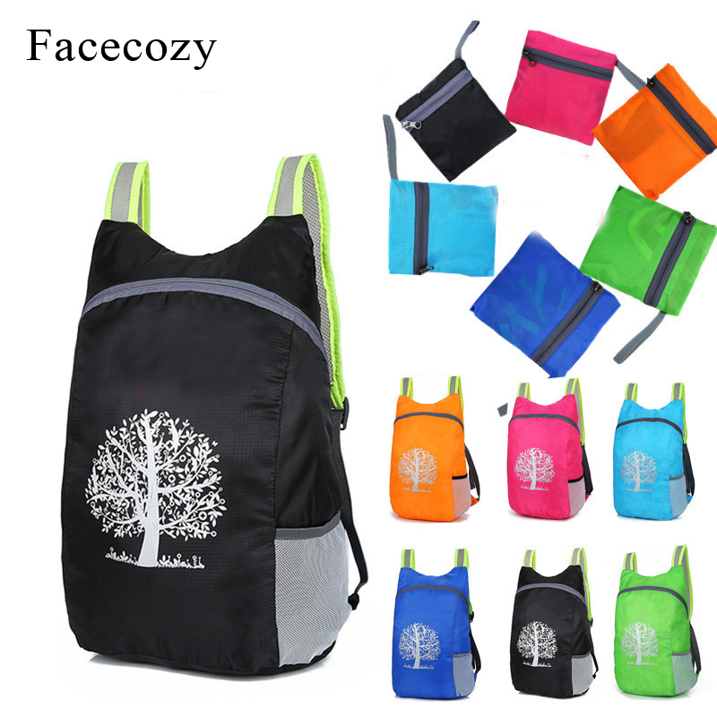Facecozy 2018 Light Outdoor Backpack Foldable Durable Waterproof Packable Bag Travel Hiking Backpack Daypack  Climbing