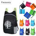 Facecozy 2018 luz al aire libre mochila plegable Durable Packable impermeable bolsa de viaje mochila de senderismo mochila escalada