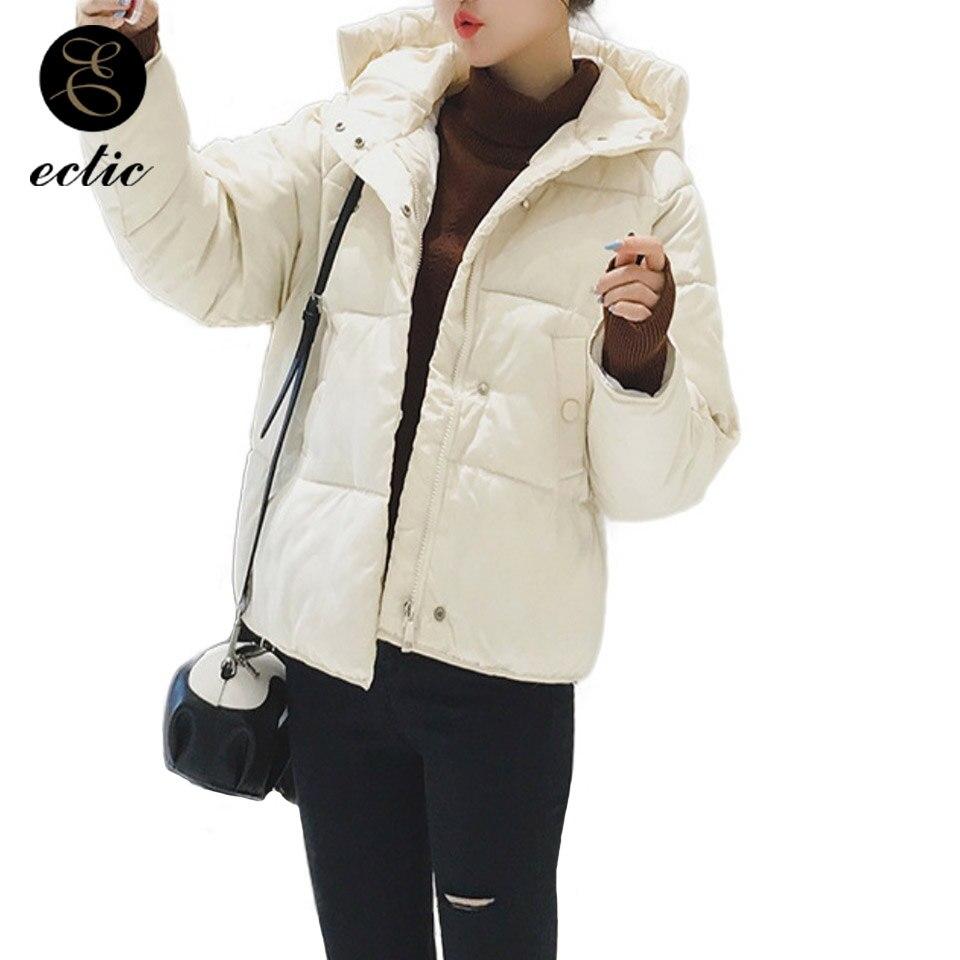 Parka   Women 2018 Korean Winter Jackets Jaquetas Feminina De Inverno Vs Pink Hooded Bomber Puffer Jacket Long Sleeve Lammy Coat