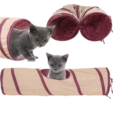 New Pet Cat Play Tunnel Foldable Fun 1 Hole Cat Tunnel Play Crinkle Sound Cat Toy Bulk Cat Toys Rabbit Play Tunnel 1 pcs 2016