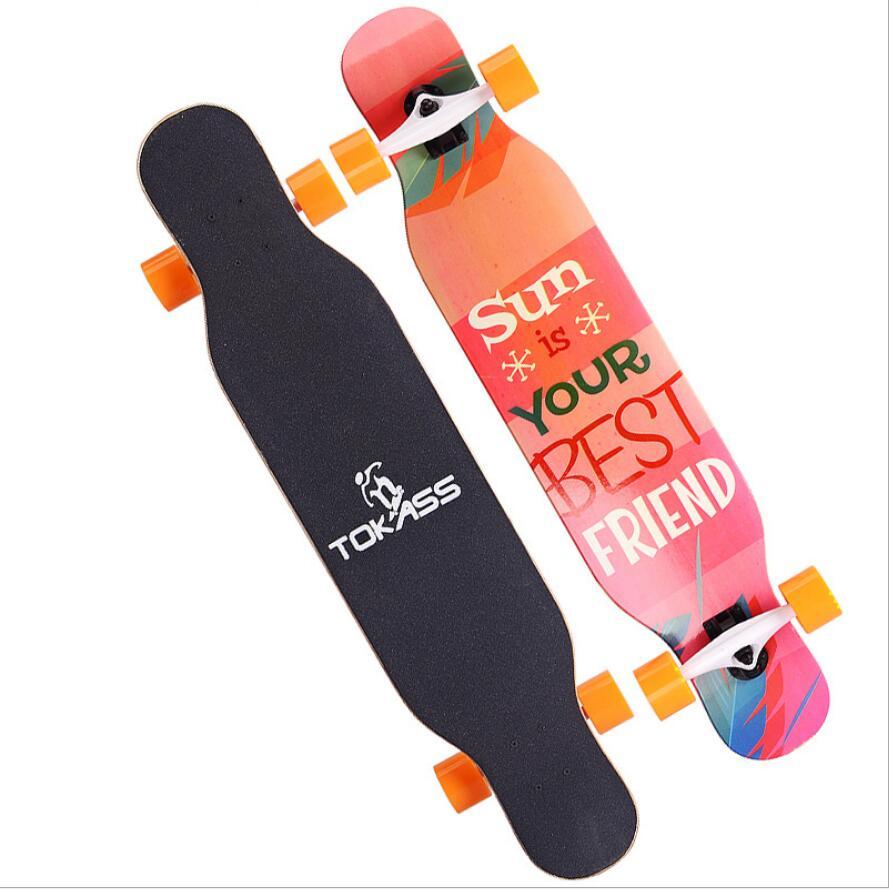 Image 4 - Клен Полный Скейт танцы доска для Лонгборда спуск Дрифт дорога Уличный Скейтборд Доска Longboard 4 колеса для взрослых молодежи-in Скейтборд from Спорт и развлечения