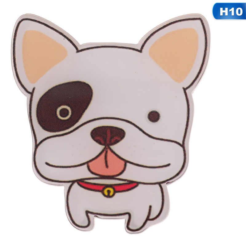น่ารักสัตว์เลี้ยงสุนัขจี้ Badge Pins ลูกสุนัขการ์ตูน Husky Corgi Bulldog เข็มกลัดผู้หญิง Denim กระเป๋าเป้สะพายหลัง Enamel Pins เครื่องประดับของขวัญ