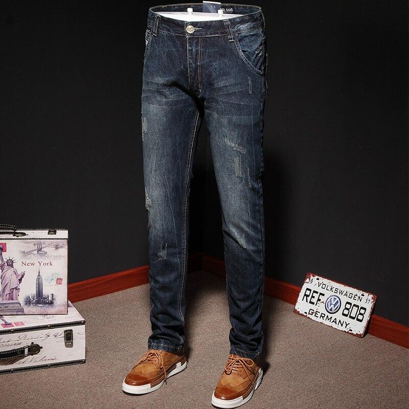 European American High Street Fashion Men Jeans Top Quality Dark Color Denim Ripped Jeans Men Slim Pants DSEL Brand Stripe Jeans motorcycle brake clutch levers adjustable folding extendable red black for 2003 2004 2005 2006 honda cbr600rr cbr 600 rr