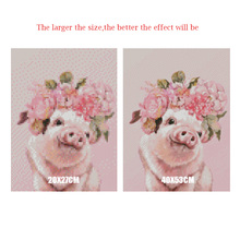 Daimond Painting pig-flower