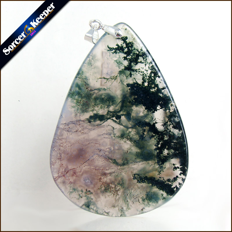 Unique Mens Jewelry Agates Natural Stone Pendants Statement Necklaces Wholesale Crystal Leather Chains Fashion Jewelly MS451