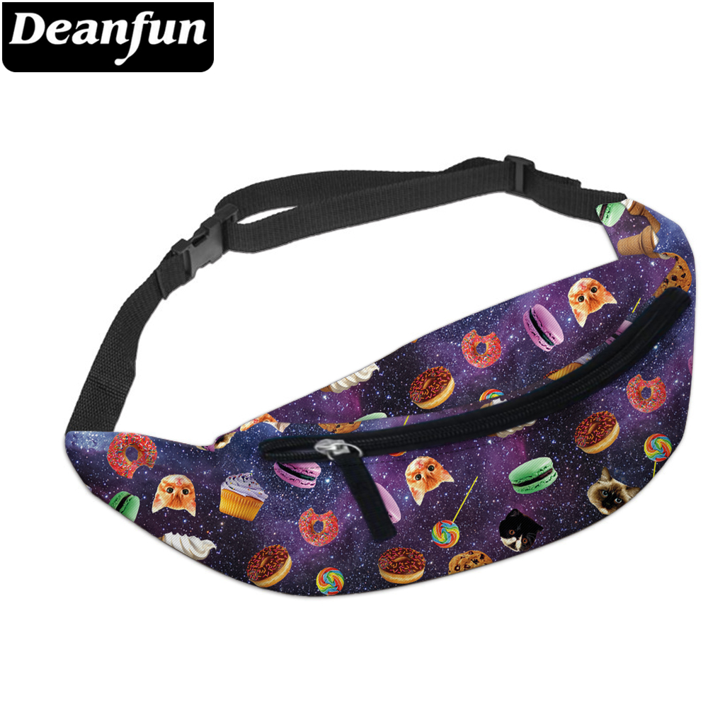 Deanfun Waist Bag 3D Printed Snack Pattern Multifunction For Women Travelling YB3 #