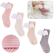 2017 Brand New Baby Toddler Infant Newborn Kid Cotton Warm Angel Lovely Wing Stockings Knee Tight 0-4Y