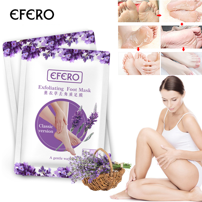 HOT Sale 1Pair Efero Exfoliating Foot Mask Exfoliating Foot Mask Skin Peeling Dead Remove For Pedicure Sock Foot Mask Spa TSLM1 3