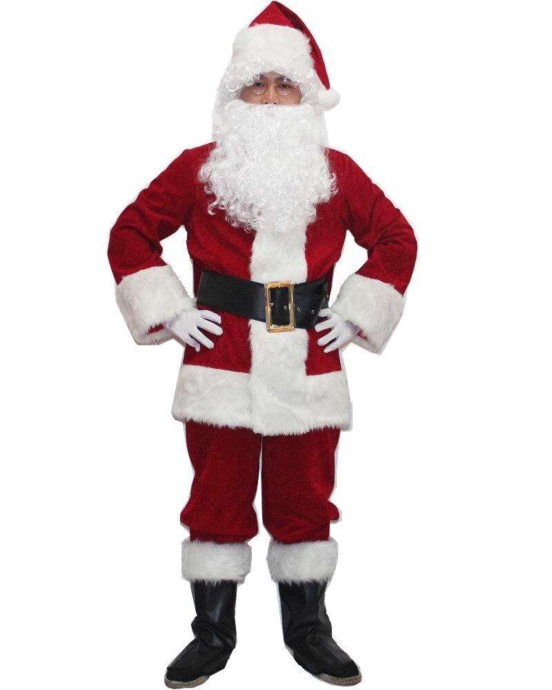 santa claus costume for men santa claus clothing adult christmas costume christmas clothing christmas cosplay costumes for women