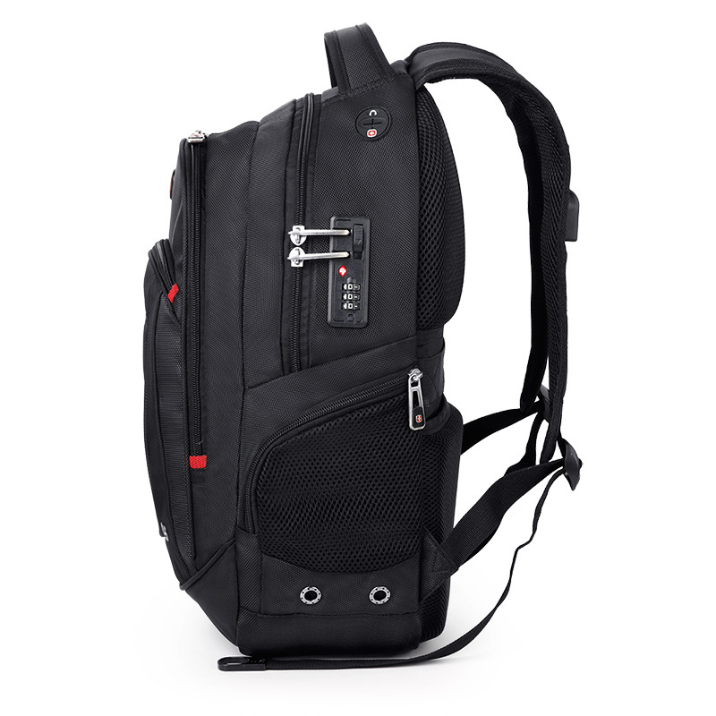 все цены на 17 Inch swiss usb tsa anti theft Laptop Backpack gear men travel laptop backpack waterproof male Bag waterproof Mochila sac