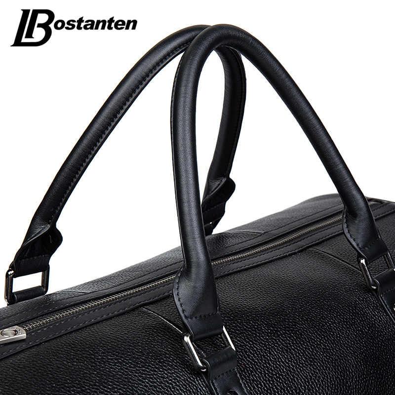 BOSTANTEN из натуральной кожи Для мужчин дорожные сумки ночь вещевой мешок путешествие на выходные Большая вместительная женская сумка через плечо сумки для путешествий