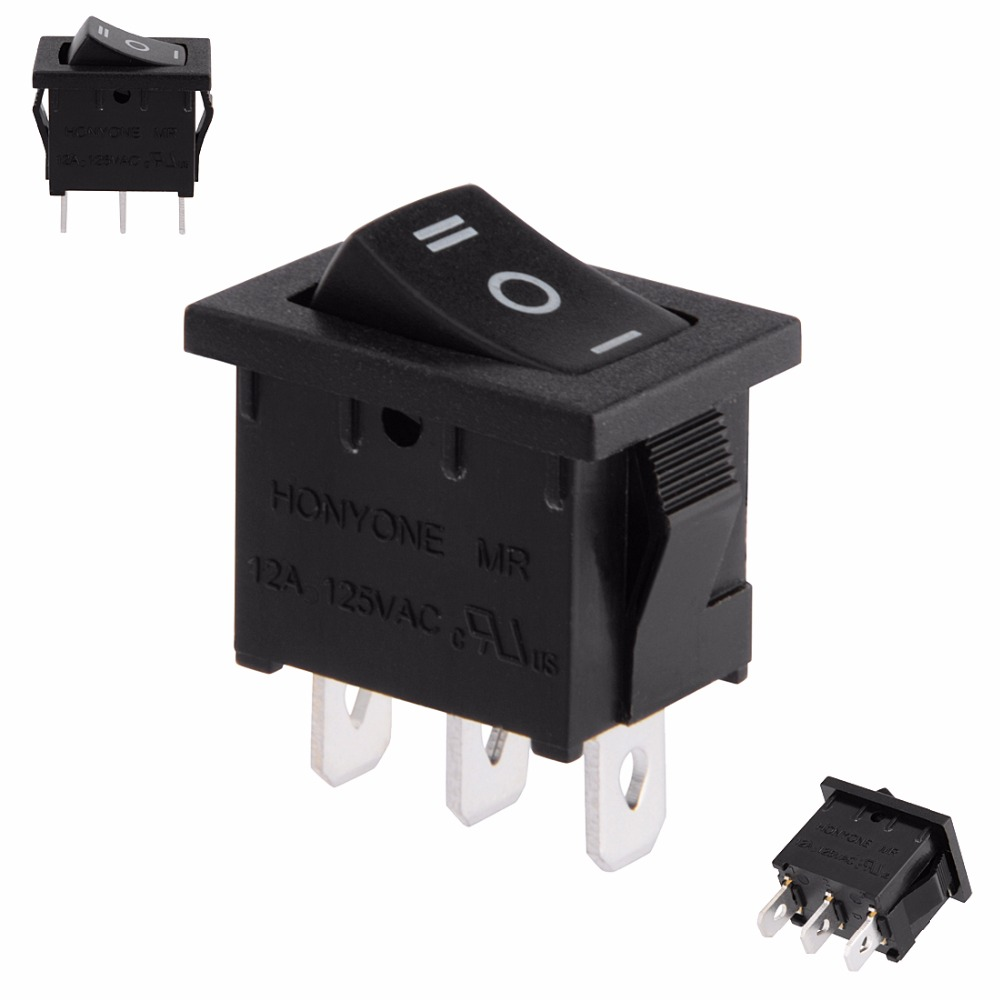 SPDT 3P 3 Position On Off On Toggle Wiring Boat Rocker Switch Black ...