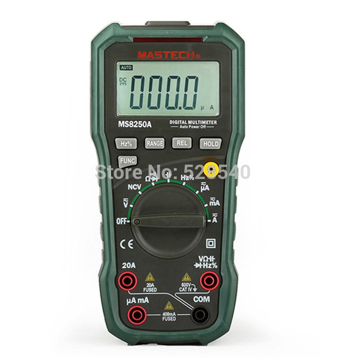 1SET Newly Mastech New Professional Digital Multimeter For Electrician MS8250A Multimetro Capacitance Frequency Meter