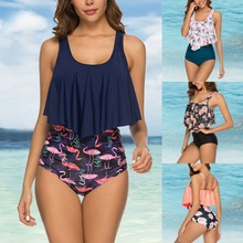 High Waist Ruffle Swimming Suit