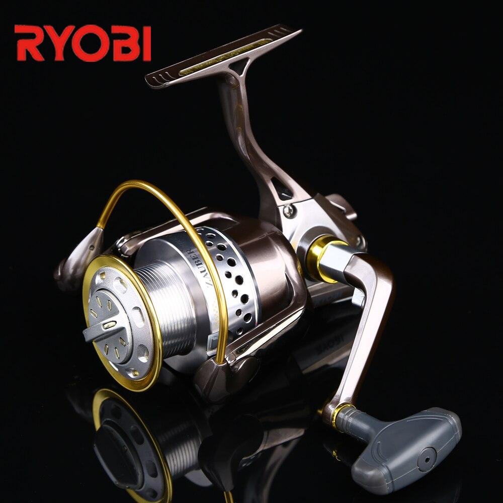 RYOBI 100% D'origine Bronzé-Couleur D'eau Salée En Eau Douce De Pêche Zauber Plein Corps En Métal Vis Sans Fin D'entraînement Système Spinning Reel