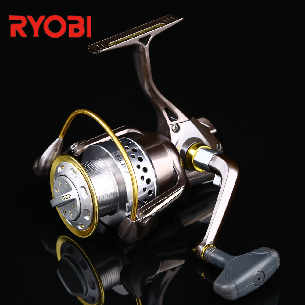 RYOBI 100% Original Bronzed-Color Saltwater Freshwater Fishing Zauber Full Metal Body Worm Shaft Drive System Spinning Reel original dhk hobby metal drive shaft 2pcs set