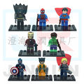 New The Avengers Marvel DC Super Heroes Series 8 Pcs Set Action Minis Building Block Toys New Kids Gift Bringuedos lepining